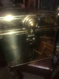 Really cool brass and wood trunk Calgary, T2Y