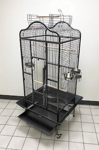 "New $135 Large Bird Parrot Open PlayTop Cage Cockatiel Macaw Conure Aviary Finch Cage 32""x30""x63"" South El Monte"