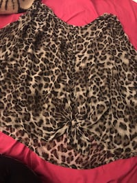Forever 21 long sleeve cheetah top size XL San Diego, 92119