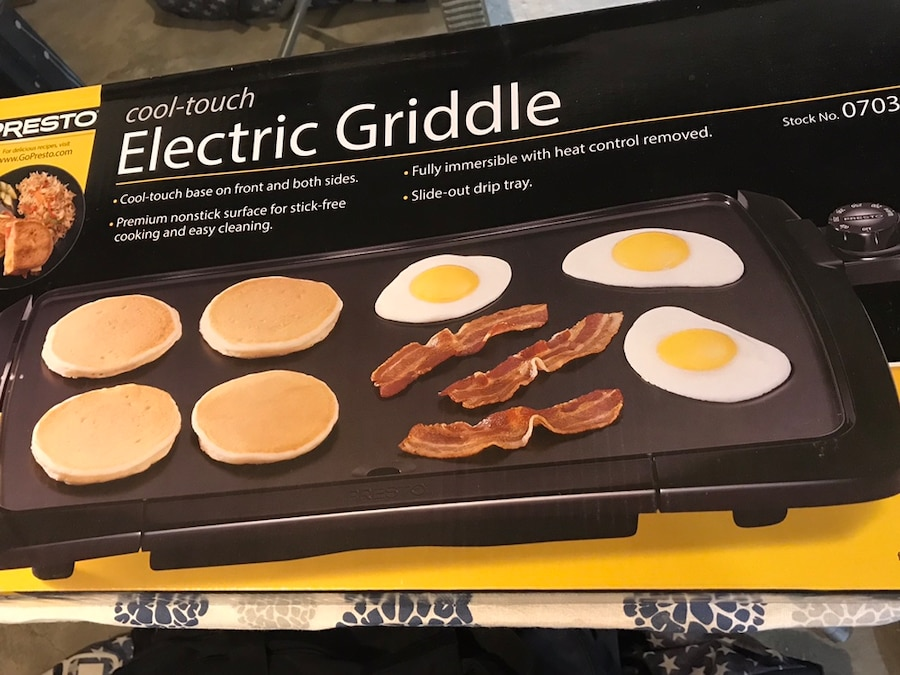 black and white electric griddle box for sale  Grandview Heights