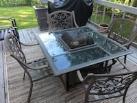 Wrought Iron Patio Set and 4 chairs
