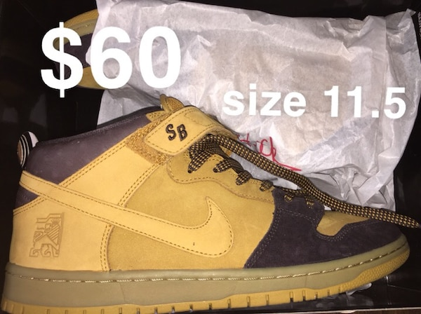 """best service 26273 e14aa Nike Sb Dunk Mid Pro """"Lewis Marnell"""" (size 11.5)"""