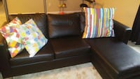 Small sectional and chair