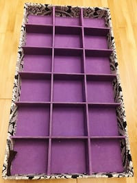 PURPLE JEWELRY STORAGE BIN ~ super cute!  Gaithersburg, 20878