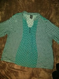 teal and white knitted sweater Amarillo, 79108