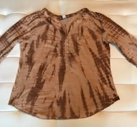 Vintage America Blues Women's Tie Dye Top Blouse Brown Sz Medium  Las Vegas, 89121
