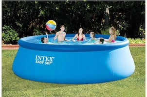 Intex pool with upgraded sand filter