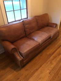 brown leather 3-seat recliner sofa Hanover, 21076