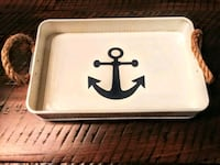New serving tray cream in colour with n.blue ⚓ Guelph, N1E 6T9