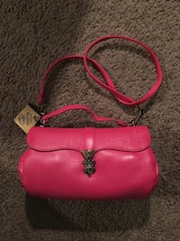pink leather crossbody bag with pouch Columbus, 43205