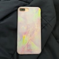 white and pink iPhone case 14 mi
