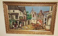Large Gold Framed Needle Point Art Picture  Brooklyn, 11220