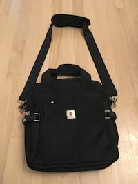 Brand new polo classic black ipad bag, messenger bag with strap, the ipad compartment is padded with foam and lined with cushioned felt. Strong nylon, polyester material, 2 extra pocket/compartment in the front, 1 in the back, also has pen slots/pockets. Vaughan, L4J 7Z2