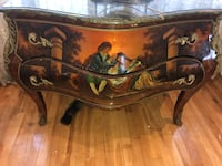 Brown wooden framed marble top buffet table Montréal, H2K