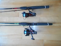 2 Fishing reeels rods by Shakespeare MONTREAL
