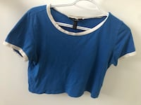 Blue Cropped Short Sleeve top Mississauga, L5B 2L9