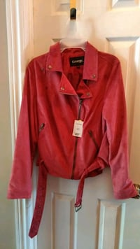 Faux Suede Jacket (Red)