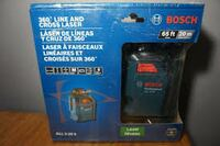 Bosch 65' 360' self leveling cross line laser.