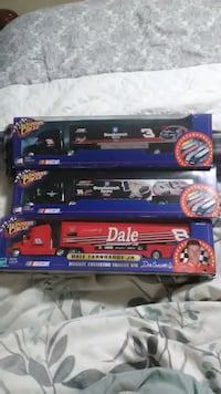 Three Toy Trucks.  Never opened. Exeter, 03833