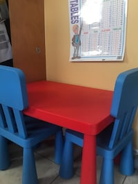 Toddler Blue and red plastic chair - pick up Steele's and Mavis Brampton - Table and 2xChairs Brampton, L6Y 5N3