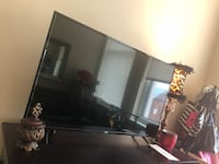 "Black flat 55"" screen tv with remote Washington, 20004"