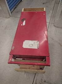 2 Level Service Cart, Red Metallic with strong wheels Toronto