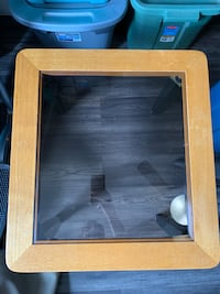 Single Glass/Wooden side table Barrie, L4M 6X9