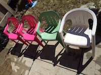 two pink and green plastic armchairs Vaughan, L4H 3L9