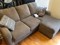 Brown fabric 3-seat sofa Barrington, 02806