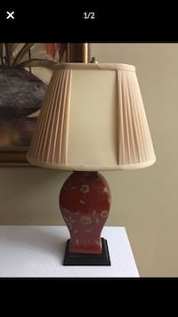 Beautiful red lamp $30. Two red pillows $17 for both pillows. Will sell separately   Mandeville, 70448