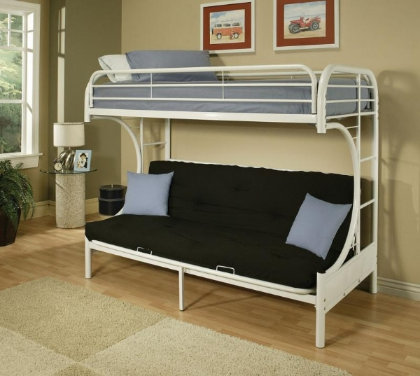 Brand New Futon Bunk Bed Twin Bottom Futon Converts Into Double