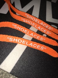 Authentic Off White Orange Shoelaces Ottawa, K4B 1M8