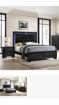 Micah Queen Bed And Night Stand  Richardson, 75081