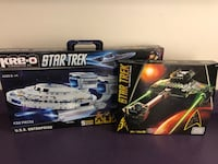 Star Trek Enterprise and Klingon D7 Builder Kits! (Similar to Legos) Ashburn, 20147