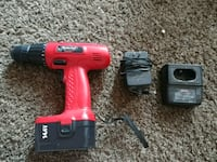 red and black cordless hand drill Buffalo, 14225