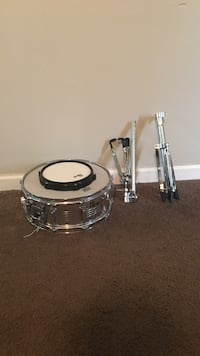 Stainless steel and white drum set Lithonia, 30038