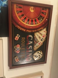 Poker wooden frame picture