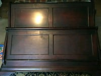 brown wooden headboard and footboard Lawrenceville, 30046