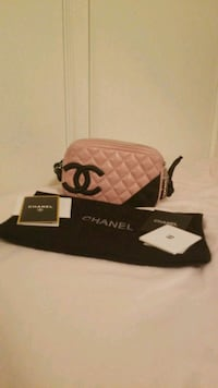 quilted pink and black Chanel leather handbag Hattiesburg, 39402
