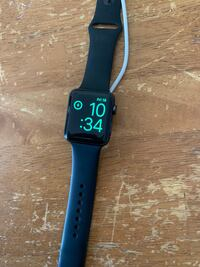 black aluminum case Apple Watch with black sports band Traverse City, 49684