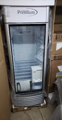 NEW 12.5 cu. ft. Single Door Merchandiser Refrigerator in Gray Aspen Hill