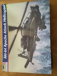revell ah-64 apache attack helicopter,model.. 45 km