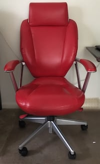 Red leather office rolling armchair Gaithersburg, 20878
