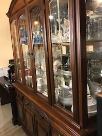 Brown wooden china cabinet only  Sugar Land, 77498