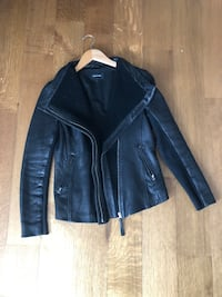 Mackage leather motorcycle jacket! Woman size small