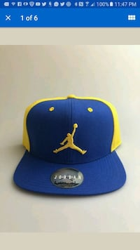 bbd5dd8744c Used blue and yellow Air Jordan cap for sale in Chicago - letgo