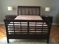 Queen size bedroom set and lamps - Price negotiable Laval, H7X 4G6