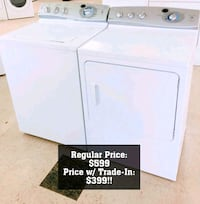 Washer dryer set with one year warranty Spring Lake, 28390