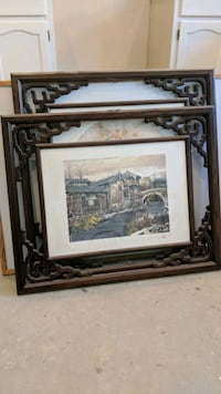 brown wooden framed painting of house Richmond, V7C 5N2