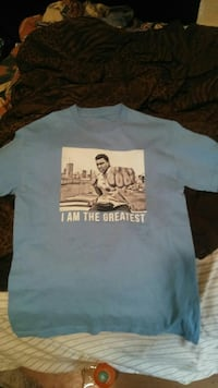I am the Greatest printed blue T-shirt